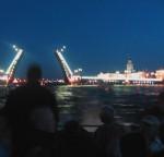 Night boat tours - raising bridges on the Neva